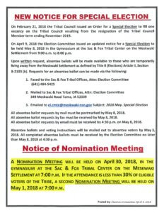 Notice of Nomination Meeting
