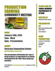 Production Farming: Community Meeting @ MBCH Convention Center