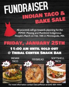 Fundraiser: Indian Taco and Bake Sale @ Tribal Center Snack Bar