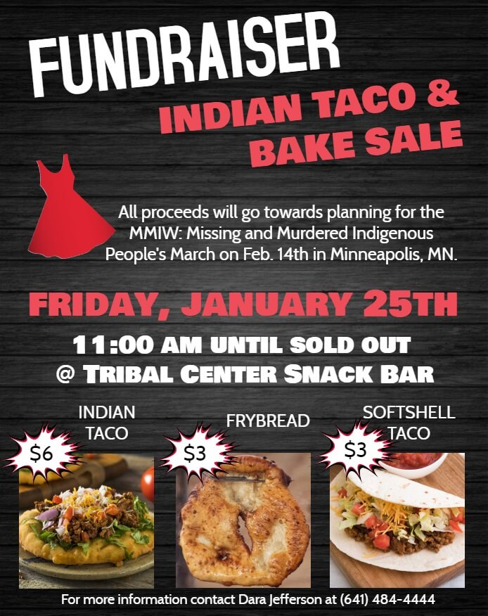 Fundraiser: Indian Taco & Bake Sale