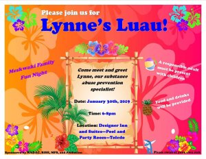 Lynne's Luau @ Designer Inn - Pool and Party Room