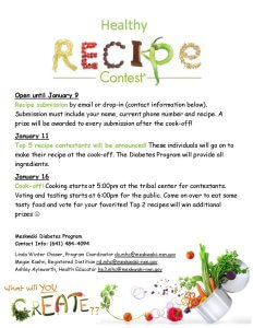 Healthy Recipe Cook-Off @ Meskwaki Tribal Center