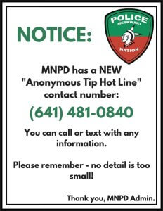 MNPD Has New Tip Line Number