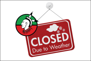 Due to Weather, Tribal Operations Closing on Wednesday, 1/30/2019