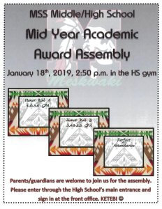 MSS Middle/High School Awards Assembly @ MSS High School Gym