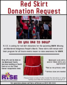 Red Skirt Donation Request