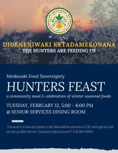 MFSI Hunter's Feast @ Meskwaki Senior Services