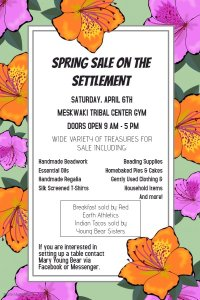 Spring Sale on the Settlement @ Meskwaki Tribal Center - Gym