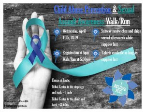 Child Abuse Prevention & Sexual Assault Awareness Walk/Run @ Meskwaki Tribal Center
