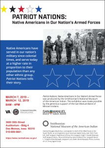 Smithsonian Traveling Exhibit: Honoring Our Nations Native American Veterans