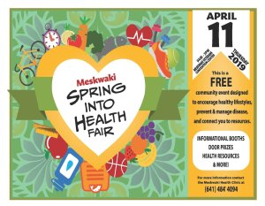 Meskwaki Spring Into Health Fair @ MBCH Convention Center