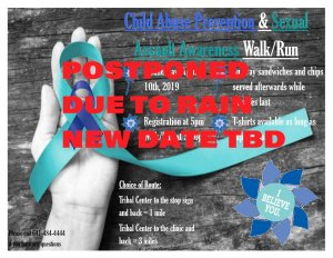POSTPONED: Child Abuse Prevention & Sexual Assault Awareness Walk/Run @ Meskwaki Tribal Center