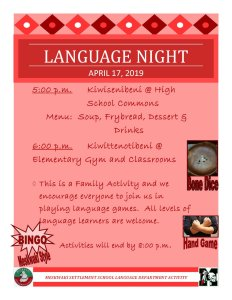 Language Night at MSS @ Meskwaki Settlement School
