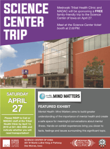 Reminder: FREE Mental Health Event At The Science Center