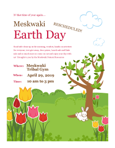 Earth Day Celebration @ Meskwaki Tribal Center