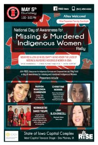 National Day of Awareness for MMIW Rally