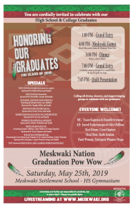 Graduation Powwow - Save The Date! @ Meskwaki Settlement School