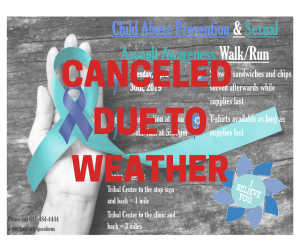 Canceled: Child Abuse Prevention & Sexual Assault Awareness Walk/Run @ Meskwaki Tribal Center