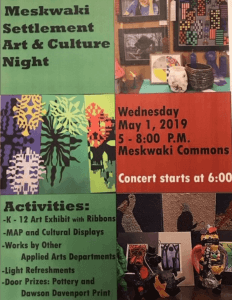 Meskwaki Settlement Art & Culture Night @ Meskwaki Settlement School - Commons