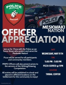 Officer Appreciation Pizza with the Police