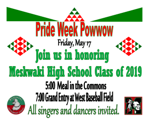 Pride Week Powwow @ Meskwaki Settlement School - West Baseball Field