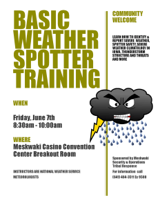 Basic Weather Spotter Training @ MBCH Convention Center - Breakout Room