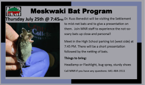 Meskwaki Bat Program @ Meskwaki High School - Parking Lot