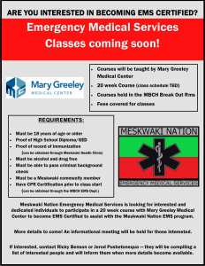 EMS Classes Coming Soon!