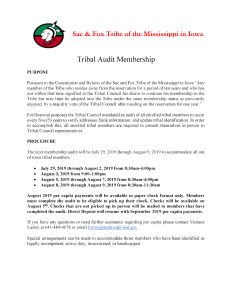 Updated Tribal Audit Notice