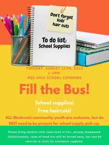 Fill the Bus @ Meskwaki Tribal Center