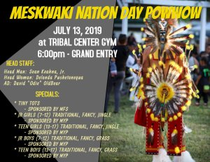 Meskwaki Nation Day Powwow @ Meskwaki Tribal Center Gym