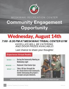 Community Engagement - Meskwaki Recreation Center