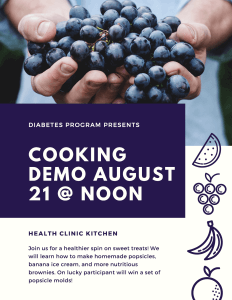 August Cooking Demo @ Meskwaki Health Clinic - Kitchen