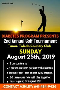 2nd Annual Golf Tournament @ Tama-Toledo Country Club