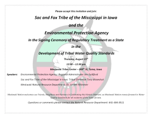 Signing Ceremony @ Meskwaki Tribal Center