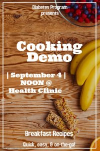 Cooking Demo @ Meskwaki Health Clinic Kitchen