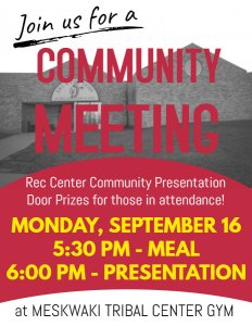 Community Meeting - Rec Center Community Presentation