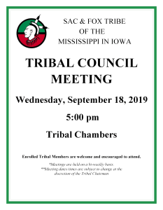 Tribal Council Meeting @ Tribal Chambers