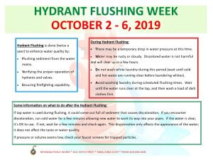 Hydrant Flushing Week Coming Soon!