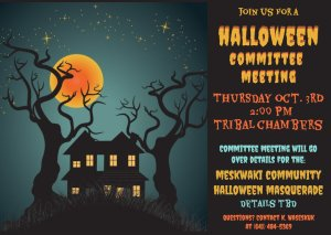 Halloween Committee Meeting @ Tribal Chambers