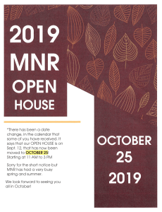 MNR Open House