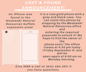 Lost & Found Announcement