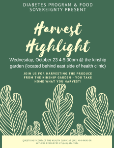 CANCELLED: Harvest Highlight