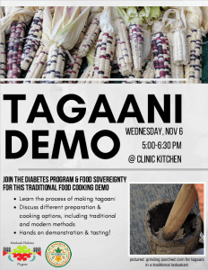 Tagaani Demo @ Health Clinic Kitchen
