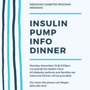 Insulin Pump Informational Dinner @ Health Clinic