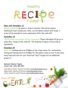 Healthy Recipe Contest Top 5 Announced