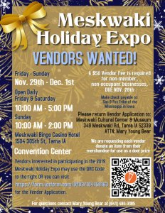 Holiday Expo Vendor Applications