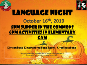 MSS Language Night @ Meskwaki Settlement School