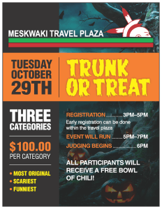 Trunk or Treat at Travel Plaza @ Meskwaki Travel Plaza