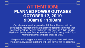 Planned Power Outages To Happen Tomorrow